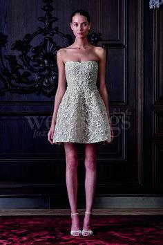 Abito da sposa per cerimonia informale. Le proposte di Monique Lhuillier per la sposa 2016.