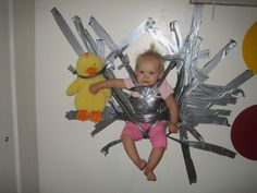 Portable Babysitter Duct Tape - Baby Stuck to a Wall - Parenting Fail ---- best hilarious jokes funny pictures walmart humor fail Funny Babies, Funny Kids, Funny Photos, Funny Images, Bing Images, Bad Boy, Picture Writing Prompts, Picture Prompt, Wie Macht Man