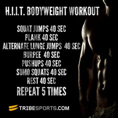 H.I.I.T. Bodyweight Workout