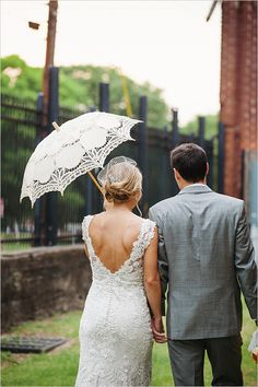 Train Station Wedding photographed by Izzy Hudgins Photography at the Georgia State Railroad Museum Yellow Wedding, Wedding Grey, Dream Wedding, Wedding Things, Train Station Wedding, Lace Parasol, Groom Looks, Fantasy Wedding, Gray Weddings