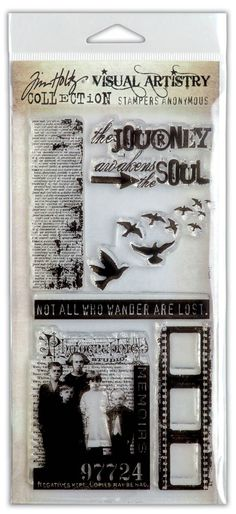 Tim Holtz Visual Artistry Clear Stamps -- Lost and Found (free ship)