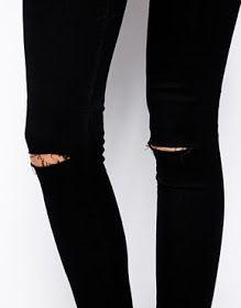 In Mama's Wardobe: DIY Ripped Knee Jeans!