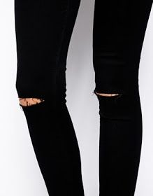 DIY tutorial: Busted Ripped Knee jeans | Ripped knee jeans, Read ...