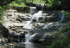 Chase Lake Falls - Cottonwood Falls, Kansas and other Kansas waterfalls.