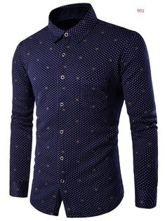 Fleece Lined Turn-down Collar Polka Dot Print Shirt #CLICK! #clothing, #shoes, #jewelry, #women, #men, #hats, #watches