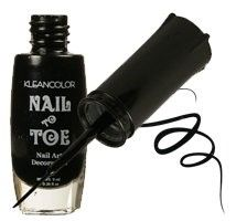 Kleancolor Nail To Toe Nail Art Nail Polish - 01 Tuxedo Black (Pack of 2)