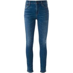 Citizens Of Humanity Skinny Fit Jeans ($170) ❤ liked on Polyvore featuring jeans, blue, skinny jeans, skinny leg jeans, citizens of humanity, blue skinny jeans and citizens of humanity jeans