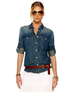 Michael Kors military denim shirt :)