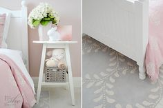 Pale pink bedroom, B