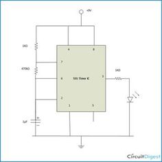 a simple 555 timer ic based binary counter circuit diagram using rh pinterest com