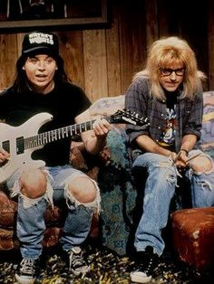 01c9a67d It's Wayne's World, Wayne's World, party time, excellent! - Mike Myers and  Dana Carvey