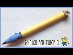 ▶ Polymer clay tutorial: Despicable me minion pen