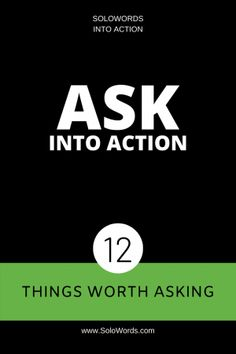SoloWords into Action | The Challenge to Put Words into Action (solowords)  on Pinterest