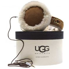 "Ugg Australia Shearling Wired Earmuffs Classic ""U"" Logo Earmuff with Speaker Technology: Keep your ears toasty while listening to your favorite tunes."