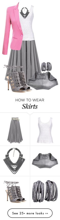 """SHEINSIDE SKIRT"" by arjanadesign on Polyvore"