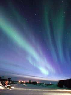 The northern lights (aurora borealis), Churchill, Manitoba