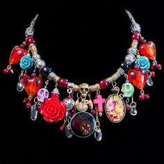 Frida Kahlo Inspired Mixed Metal Assemblage by BricolageBeautiful