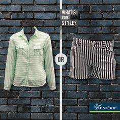 Have you been captivated by the #stripe fever yet?  Nuon stripes on your top or on your shorts, what's your style? #ThisOrThat