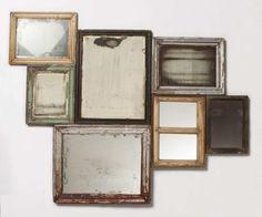 Conjunto de espejos antiguos de Anthropologie © Anthropologie