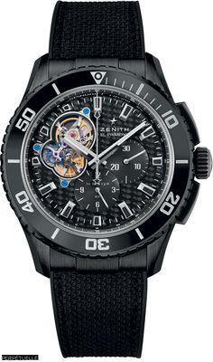 Zenith EL Primero Stratos Spindrift Racing DLC carbon fiber dial watch - Perpetuelle