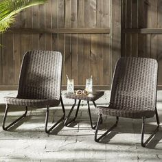 @ Stickel 3 Piece Conversation Set By Mercury Row Decor, Patio Set, Patio Chairs, Patio Furniture For Sale, Conversation Set Patio, Rocking Chair Set, Sofa Set, Lounge Seating, Furniture Sale