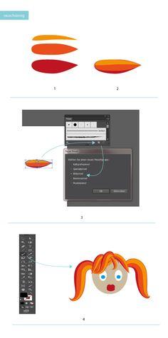 How to draw hair in adobe Illustrator #Hair #Design #Tutorial #Zeichnen #AdobeIllustrator #Typografie www.rauschsinnig.de