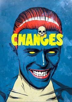 Amei essa série nova do curitibano e rei da pop culture,Butcher Billy! Nela, ele mistura títulos de clássicos do Bowie com conexões com personagens de filmes, série e outros ícones pop. Tomei a liberdade de fazer um gif com todos, Billy. Espero que não se importe :)         (...)