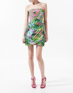 Floral Draped Waist Dress from Zara [on sale for $59]