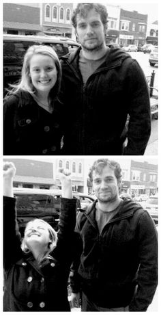 This girl's reaction to meeting Henry Cavill...is  much less over the top than mine would be.