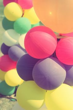 What's not happy about colorful balloons?
