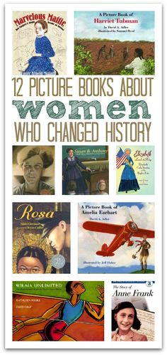 Want to inspire your daughter? Read these real stories of women who were brave enough to stand up and make a difference. Books About Women Who Changed History. Great for Women's History Month in March. Kids Reading, Teaching Reading, Reading Lists, Reading Books, Reading Activities, Good Books, Books To Read, My Books, Mentor Texts