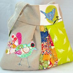 SOLD- Patchwork Bird bag | Flickr - Photo Sharing!