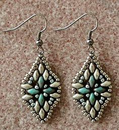 "HARMONY BAND 1   11/0 seed beads Miyuki ""Antique Silver Nickel"" (11-464A)    11/0 seed beads Toho ""Steel"" (11-480)    SuperDuo beads ""Tu..."
