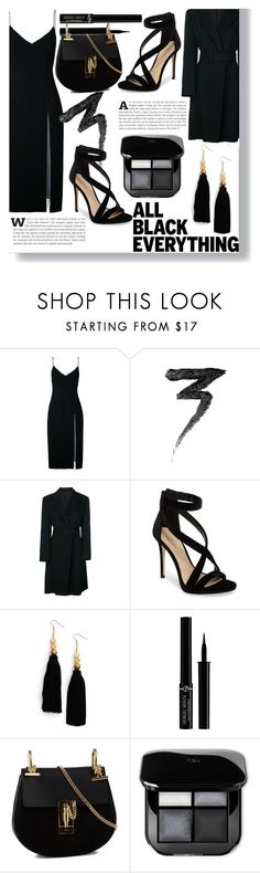 """Black Widow"" by fashionways ❤ liked on Polyvore featuring Christopher Esber, Manic Panic NYC, Yohji Yamamoto, Imagine by Vince Camuto, Ink + Alloy, Giorgio Armani and Chloé"