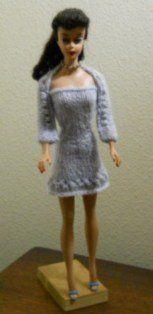 Barbie pattern alpaca knit dress and shrug for an intermediate knitter.  Free pattern.