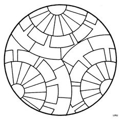 Archivo de álbumes Faux Stained Glass, Stained Glass Patterns, Mosaic Patterns, Mandala Painting, Dot Painting, Painting Patterns, Mosaic Art, Mosaic Glass, Geometric Coloring Pages