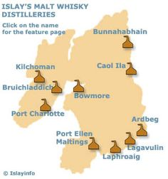 One day I'd do a whisky-tasting tour: Islay Malt Whisky Distilleries Map