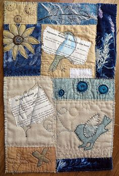 art quilt - Jane LaFazio  she used the sun print fabric, like the idea