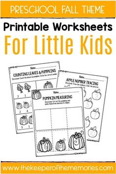 Check out these awesome fall printable preschool worksheets! You'll find both Math & Literacy activities that are quick & easy for your little kids! They're a fun, no prep way to get your preschoolers thinking! Sensory Activities Toddlers, Kids Learning Activities, Writing Activities, Vocabulary Activities, Learning Centers, Educational Activities, Teaching Ideas, Summer Worksheets, Printable Preschool Worksheets
