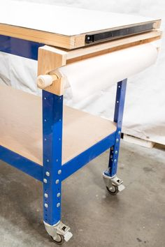 Add a workbench paper roll dispenser to protect your surface from paint drips!