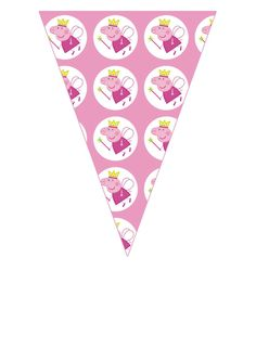 Party Flags, Pig Party, Free Printables, Cards, Mini Bunting, Paper Chains, Popcorn Boxes, Party Kit, Pink