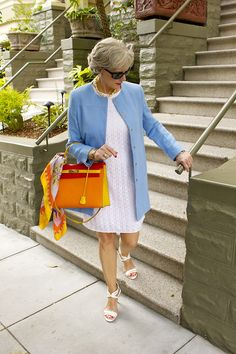 A little longer and with closed in shoes for work, but a lovely colour combination and a great coat.