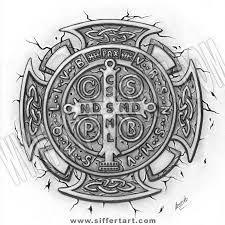 Resultado de imagem para tattoo medalha de são bento