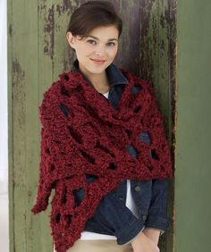 "I love this ""Lace Wrap"" & there's a free pattern!"