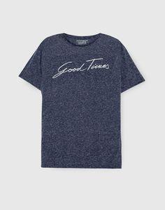 Pull Bear - hombre - ropa - camisetas - camiseta good times - marino -  09239523- 4aa7578dd5911