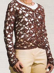Ravelry: Crochet Cardigan - LM0232 (Archived) pattern by Lisa Gentry... Free pattern!