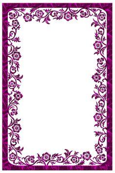 Large Dark Pink Transparent Frame