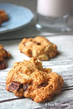 Chunky Monkey Cookies - these are the best gluten-free cookies. Don't even know they're gluten-free! Big chunks of chocolate and banana and made healthier with coconut oil and natural peanut butter.