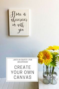 Looking for a fun weekend craft? Pick up a canvas and some NuFun craft supplies from the store and go to town! This is such a simple fun craft that can stand out anywhere!