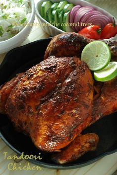 Whole Roasted Tandoori Chicken - with step by step pictures   #chickendinners  #FoodNetwork  #Comfortfoodfeast